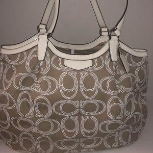 Coach Signature Rope Print Shoulder Bag
